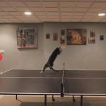 卓球の邪魔をするニャンコ